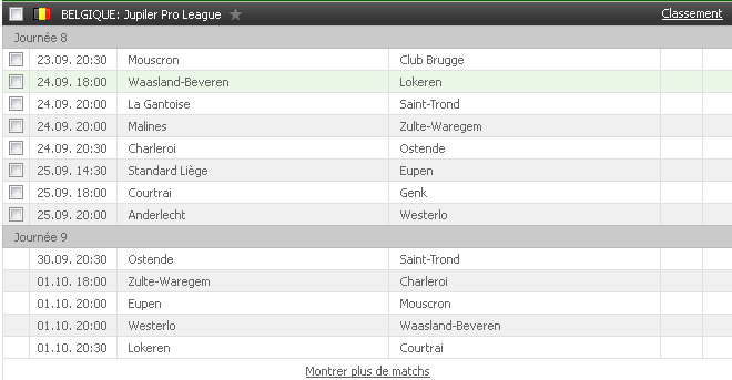 jupiler-league-calendrier